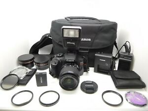 CANON EOS REBEL T6 W/ EF-S 18-55mm 1:3.5-5.6 IS II LENS & More EXCELLENT & CLEAN