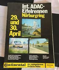 NURBURGRING DRM EIFELRENNEN 1972 PROGRAMME FORD CAPRI RS 2600 HANS STUCK BMW CS