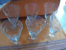 SET OF6 - VINTAGE PRINCESS HOUSE STEMWARE WATER GLASS - TULIP PATTERN