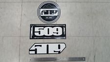 509 SNOWMOBILE LOGO (3) THREE DECAL / STICKER LOT  - 3 LARGE DECALS -  NEW