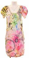 DESIGUAL Womens Basic Dress Size 8 Small Multicoloured Viscose  DC19