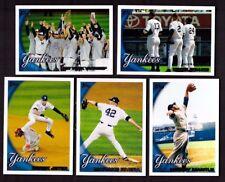 2010 Topps NEW YORK YANKEES Team Set Series 1 & 2 w/ Updates 44 Cards Mint