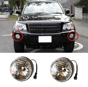 2pcs Car Front Bumper Fog Lights DRL Lamp For Toyota Highlander KLUGER 2001-2003