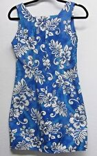 ROYAL CREATIONS Hawaiian Hibiscus Floral Print Sleeveless Cotton Dress Size (M)
