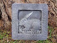 """plaster concrete mold rabbit tile plastic mould 8"""" x 8 x just under 1"""" thick"""