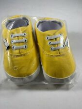 Angel Baby Toddler Yellow Canvass Walking Shoes  Size 12-18 Months