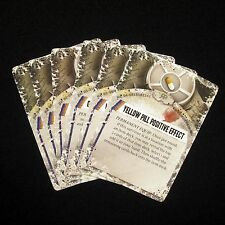 NEW Dead of Winter Long Night - 6x Raxxon Pill Side Effect Cards Game Parts