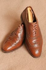 VTG EDWARD GREEN 202 for Nordstrom Wingtip Brown Oxford Balmoral Shoes 10D UK