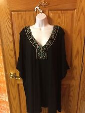 Women's Black Bathing Suit Cover-Up. Size 3X. NWT