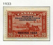 1933 Canada.  World's Grain Exhibition and Conference, Regina.  20c red MLH.