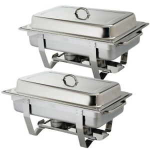 BEST EBAY PRICE PACK OF 2 MILAN CHAFING DISH SETS ***FREE NEXT DAY DELIVERY***