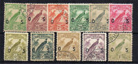 Australia - New Guinea 1932-34 Air Officials values to 1s FU CDS