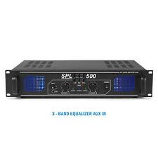 More details for spl 500w power amplifier eq aux - home audio hi-fi stereo dj disco party pa amp