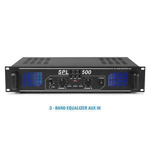 SPL 500W Power Amplifier EQ Aux - Home Audio Hi-Fi Stereo DJ Disco Party PA Amp
