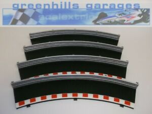 Greenhills Scalextric Radius 2 Outer Border/Barrier 45 Deg x 4 C8228  BD Black -