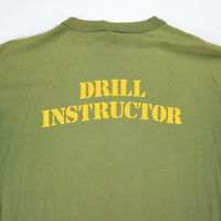 Vtg Drill Instructor T-Shirt Mens S/M Worn-Thin Nicely Faded Distress Grunge USA