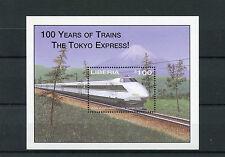 Liberia 2003 MNH 100 Years of Trains 1v S/S I Railways Shinkansen Bullet Train