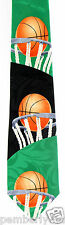 Foul Shot Mens Necktie Basketball Player Net Court Sports Fan Gift Black Tie New