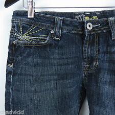 Miss Me Star Burst Flap Pocket Jeans Size 15 Flare Leg