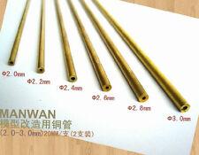 Brass Pipe (Diameter: 2.0mm, Length: 20cm, 2pcs)