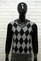 Maglione FRED PERRY Uomo  XL Extra Slim Pullover Felpa Lana Sweater Man Cardigan