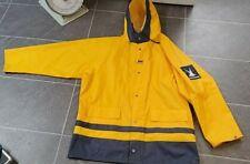 VTG HELLY HANSEN MEN'S PVC SAILING FISHERMAN'S YELLOW RAIN COAT SZ L (54-56)
