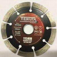 DIAMOND BLADE 115 X 22.2m  TEIKUTA by BERGEN masonry cutting discs 10mm seg 8104