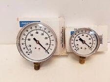 "New listing Lot of 2 Ashcroft Vac Pressure Gauge 2 1/2"" & 3 1/2"" Dia Range 30"" Hg Vac"