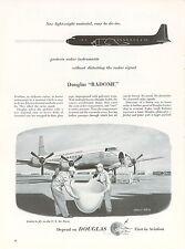 1953 Douglas Aircraft Ad Radome Nose Cone Military Air Transport Service Radar