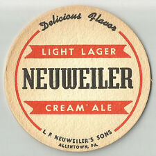 12 Neuweiler Light Lager Cream Ale. Beer Coasters