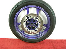 ~ STRAIGHT ~ FRONT WHEEL w/ROTOR 88-07 EX250 Ninja 250 250R rim * PURPLE