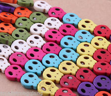 50pcs Mixed Turquoise Skull Grimace Charms Spacers loose Beads Necklace findings