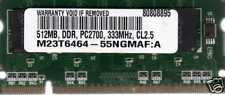 NEW 512mb Gateway PC2100/PC2700 DDR Laptop/Notebook SoDIMM RAM Memory