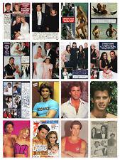 Lorenzo Lamas rare collection / lot 600+ magazine articles clippings photos  M1