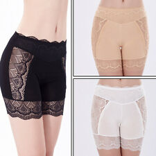Women Safety Pants Floral Lace Spliced Elastic Underwear Shorts Briefs Leggings