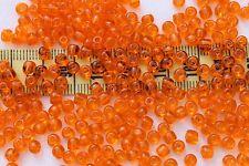 2/0 Old Time Vintage Venetian Trans Orange #3 Glass Seed Beads/1oz