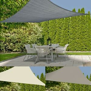 Outdoor Patio Garden Canopy UV Sun Shelter Protection Shade Sail Triangle/Square