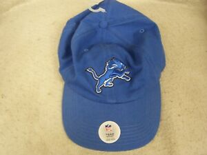 Detroit Lions Team Apparel Blue White Hat Baseball Cap Adjustable OFFICIAL NFL
