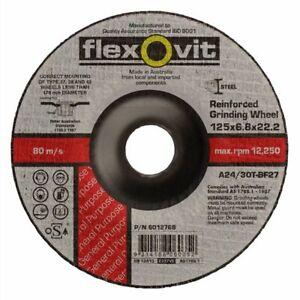 FLEXOVIT PACK SIZES 5,10 & 20 GRINDING DISC 125MM X 6.8MM X 22.2 METAL GENERAL
