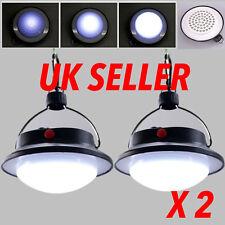 2pcs Ultra Bright Rechargeable 60 LED Camping Tent Light Lantern Fishing Lamp UK