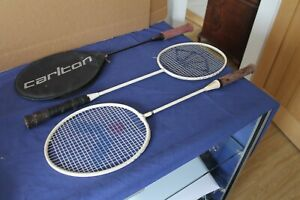 3 Badmington Rackets good condition heads and stringing one with cover