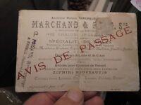 Marchand & P....... Spécialiste de Toile Chalon sur Sâone Avis de Passage