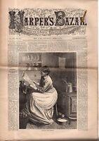 1879 Harpers Bazar April 5 - Cloth Riding Habit; Waterproof cloaks; Chemisettes