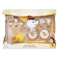Disney NIB Beauty and the Beast Deluxe Singing Tea Set NEW Lumiere Mrs. Potts