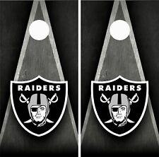 Oakland Raiders Cornhole Wrap Skin Board NFL Sports Vinyl Decal GC75