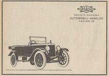 Z1524 Automobili ANSALDO - Pubblicità d'epoca - 1925 Old advertising
