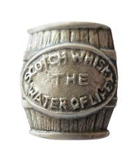 Écosse Whisky Barrel Tonneau Étain Broche Badge