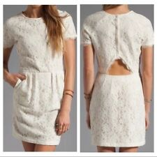 NWT DV DOLCE VITA Sarus Lace Dress-Cut out Back Ivory -Fit and Flair- Sz Med