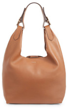 DKNY NWT $298 Wes Large Hobo Shoulder bag Pebbled leather Driftwood Brown Tote