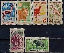 TANGIER/TANGER (SPAIN) TELEGRAPH STAMPS MNH /WILD ANIMALS, ELEPHANT, LION, CAMEL